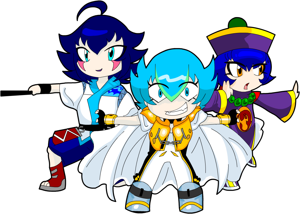 Just the cute favorite blue haired bladers by Carol-aredesu