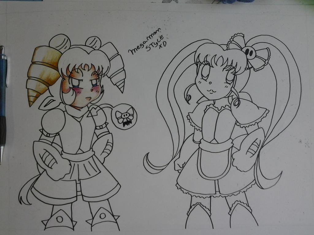 [WIP] Megaman Style by Carol-aredesu