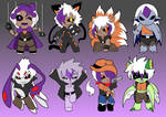 Point commish - Monster Max pack 4 ChaoticPrince7 by Carol-aredesu