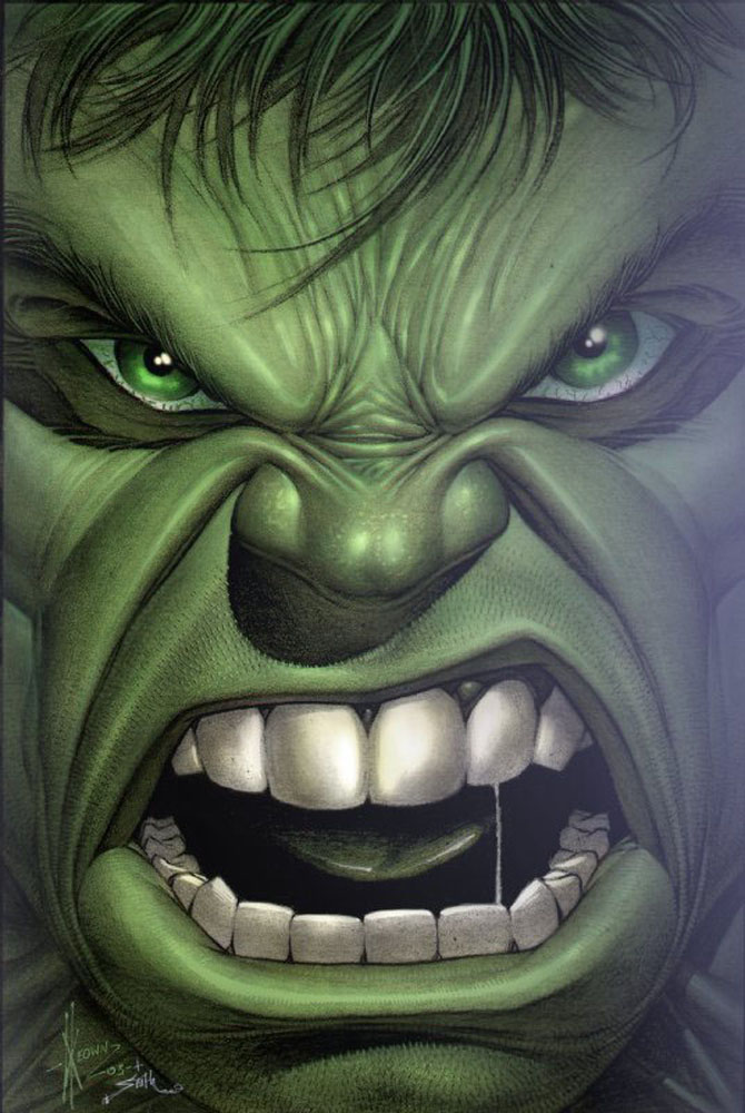 Dale Keown  HULK by tomscolor