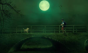 Alone Boy and a Dog  Dramatic Photo by Roshan3312