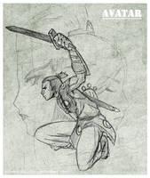 The swordsman Sokka by PotemkinBuster