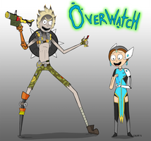 Overwatch - Junkrat and Morty by Cruxia