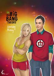 TBBT FanArt:Sheldon+Penny by Shin-ichi