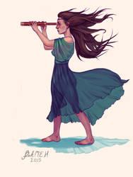 Telescope Girl by thesameriver