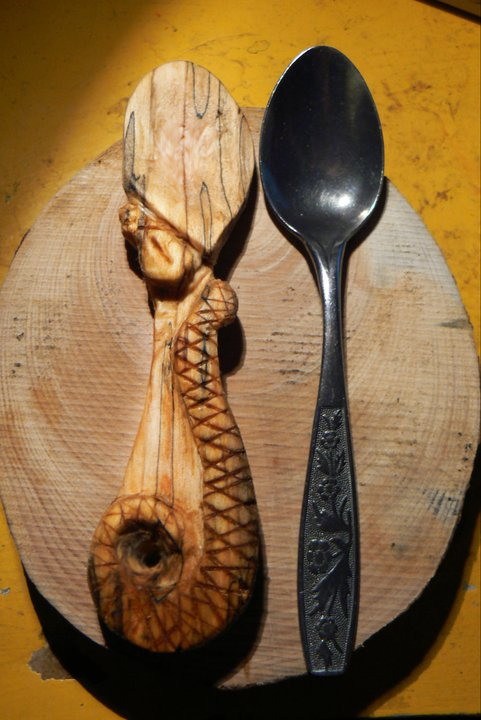 Snake teaspoon by NightPhoenixArt
