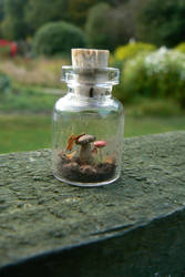 For Sale: Mini autumn bottle pendant by NightPhoenixArt