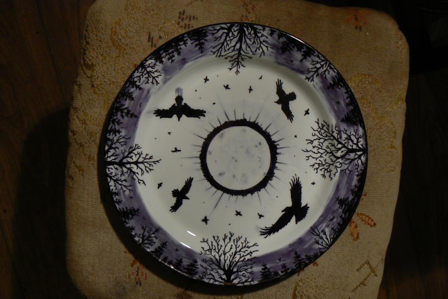 The Corvids Plate by NightPhoenixArt