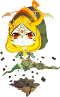 Midna Fanart by meowbaggins