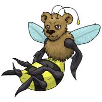 bee bear creature teen by samanthacannon