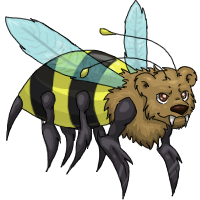 bee bear creature adult by samanthacannon