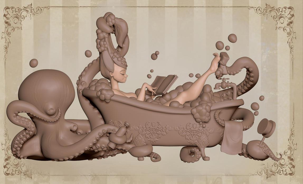 Model from Brian Kesinger's Tea Girls. by GOKOYOKO