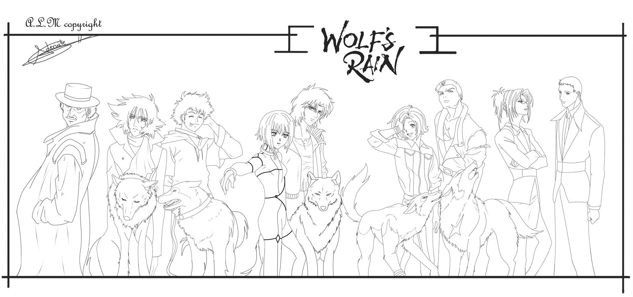 wolf rain coloring pages - photo#19