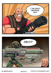 Whose Heavy Weapon is heavier by GothicDarkShine