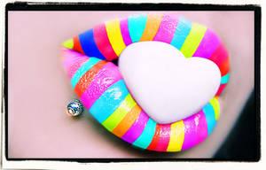 Rainbow Heart Candy by iluvjono4eva