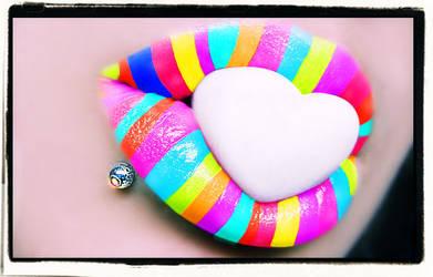 Rainbow Heart Candy
