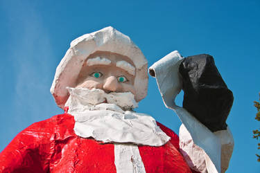 Ominous Santa by gerryray