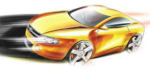 Orange Coupe