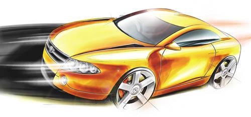 Orange Coupe by widebloke