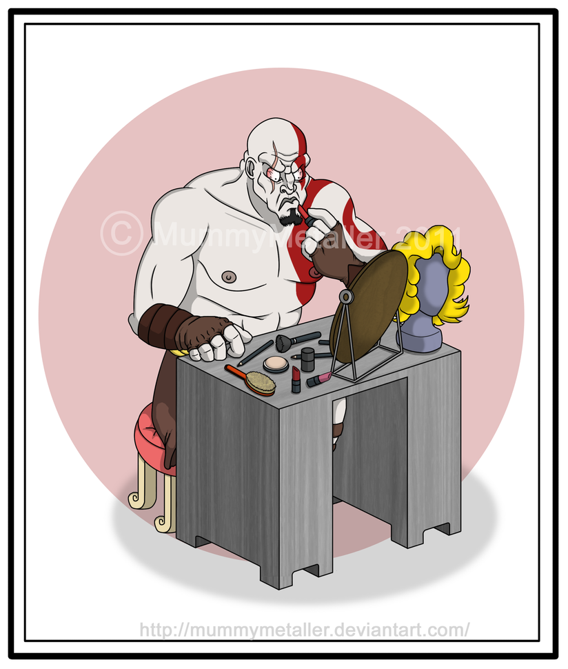 Kratos feels pretty... by MummyMetaller