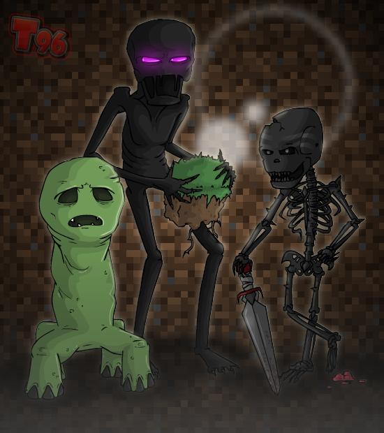 A Minecraft Trio by Tarantulakid96