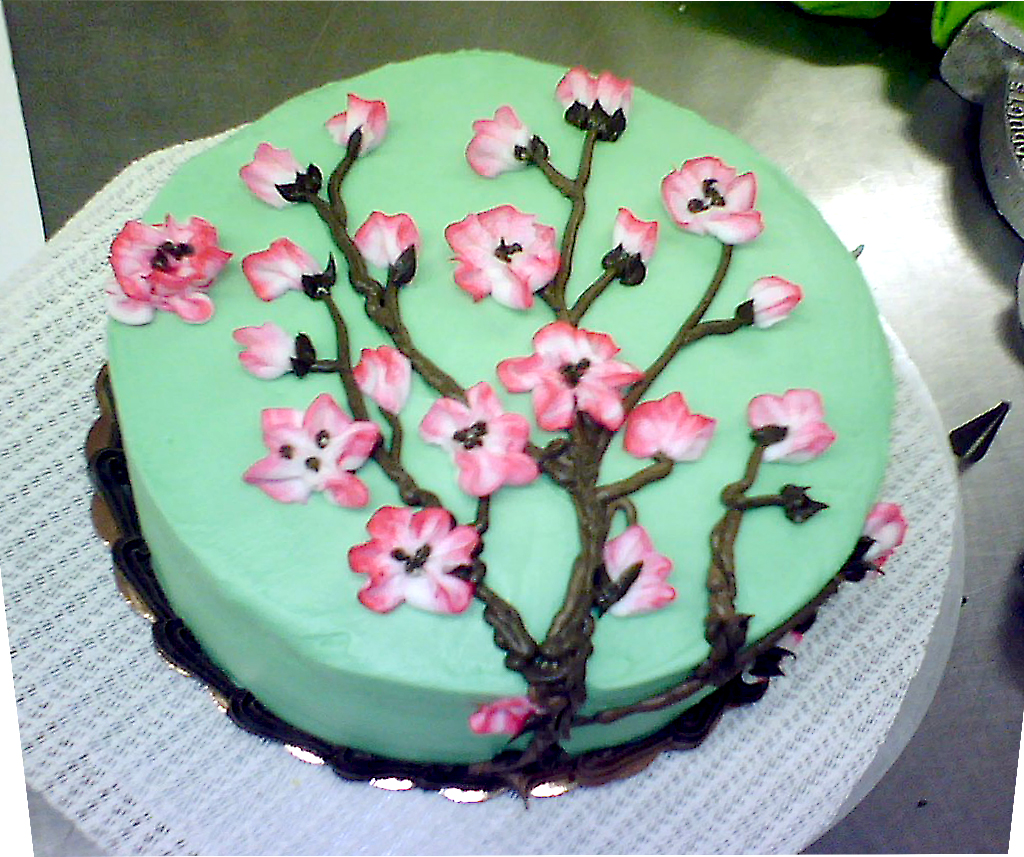 Cherry Blossom Cake by redhed66 on DeviantArt