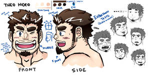 Theo Hideo - Expressions Sketchboard