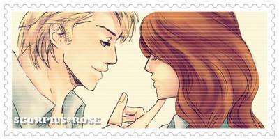 Scorpius X Rose stamp by melis-chan
