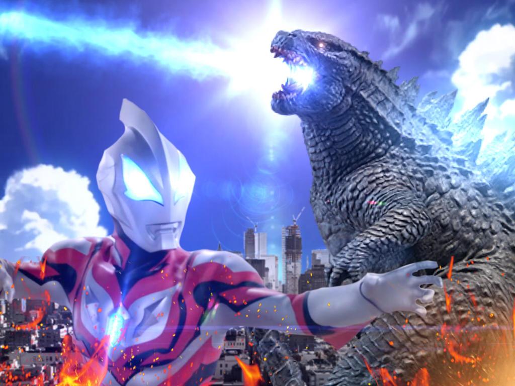 Godzilla VS Ultraman Geed by Jacksondeans on DeviantArt  Godzilla VS Ult...