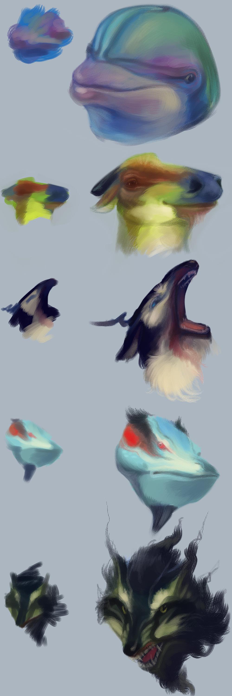 Acrylic creatures by AuldBlue