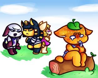 Dumb Orange Cat mc' No Friends by UncleCucky