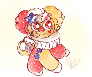 Popcorn(Clown)Cookie by UncleCucky
