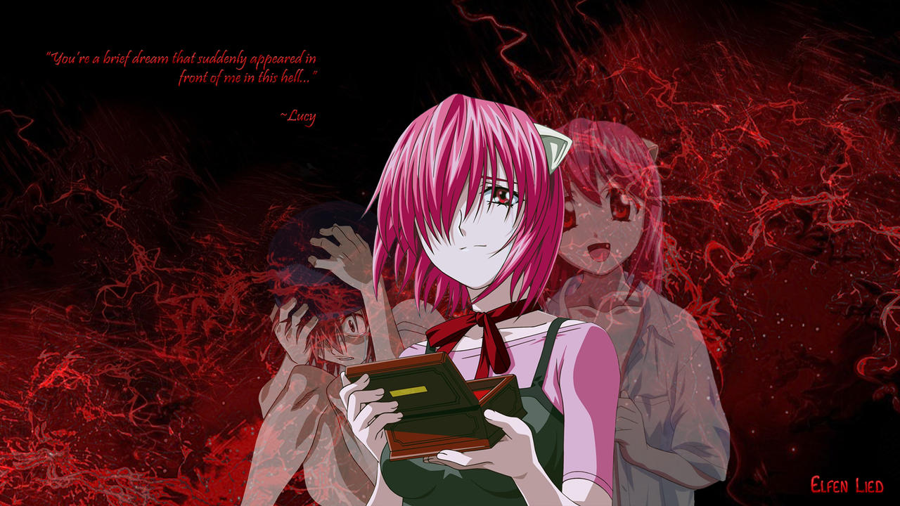 elfen lied wallpaper lucynyu by deathvoltz on deviantart