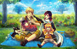 Picnic with Xiao Long Rose Family by Mikururun
