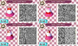 Sailor Chibi Moon acnl qr code by Pink0Fish
