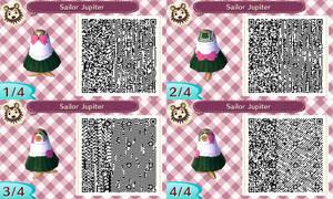 Sailor Jupiter acnl qr code by Pink0Fish