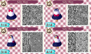 Sailor Moon first transformation acnl qr code by Pink0Fish