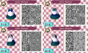 Sailor Neptune acnl qr code by Pink0Fish