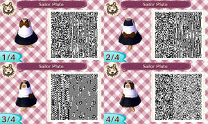 Sailor Pluto acnl qr code by Pink0Fish