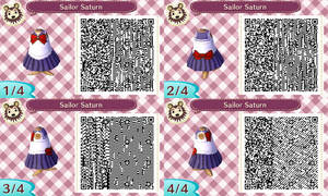 Sailor Saturn acnl qr code by Pink0Fish