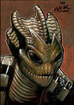 Doctor Who Silurian sketchcard