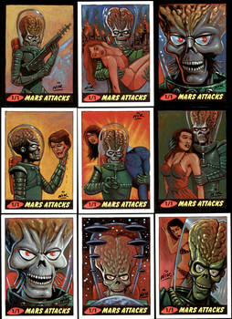 Mars Attacks Heritage sketch cards.
