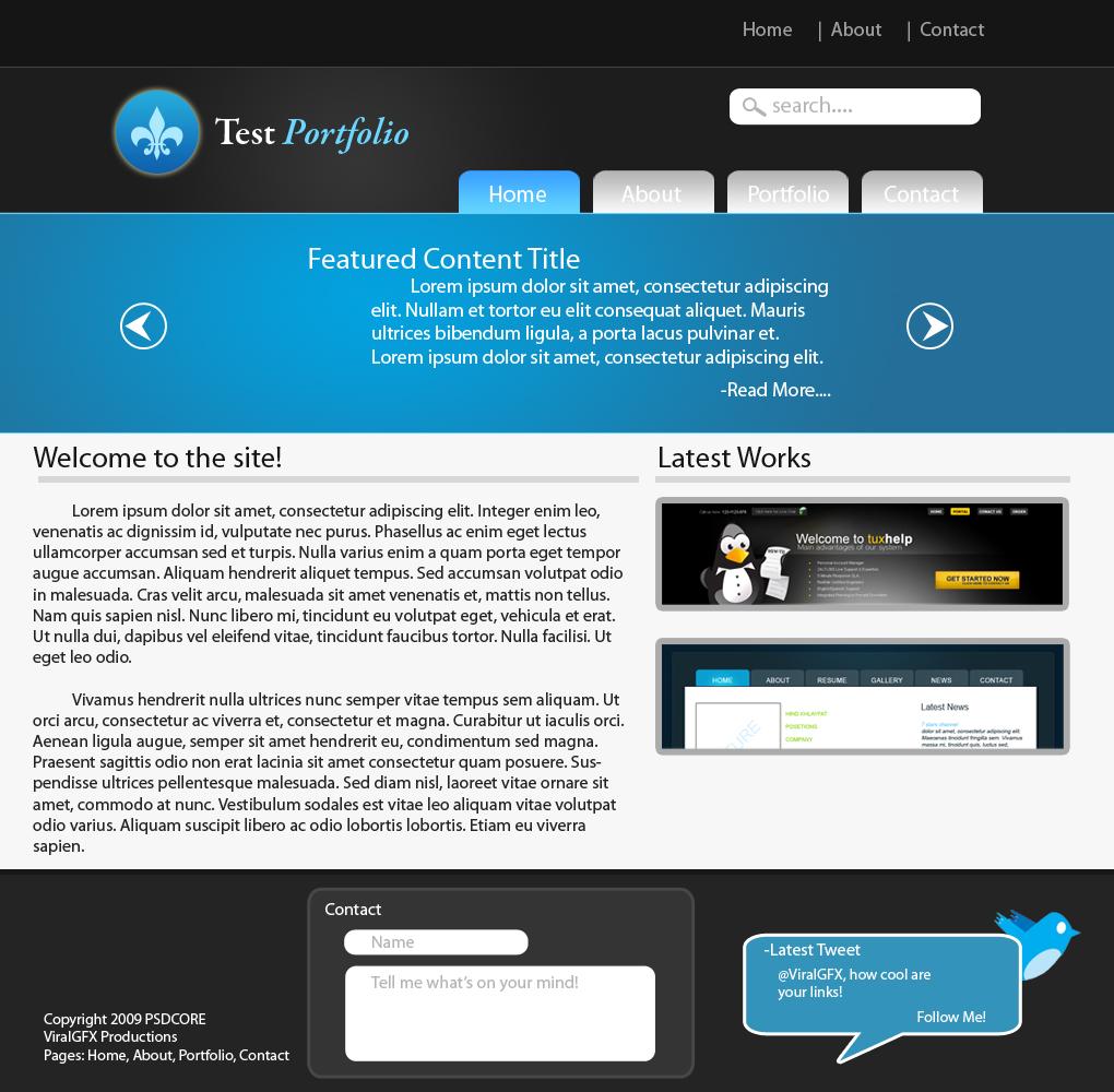 Simple Web 2.0 Portfolio