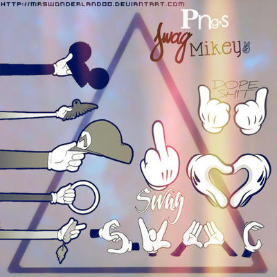 PNG's Mickey(: [SWAG] by MrsWonderland00