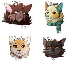 okay last batch of headshots for now huzzah by ArualMeow