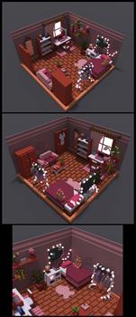 MagicaVoxel room