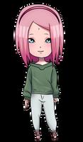 Chibi Sakura by euphoriadOll