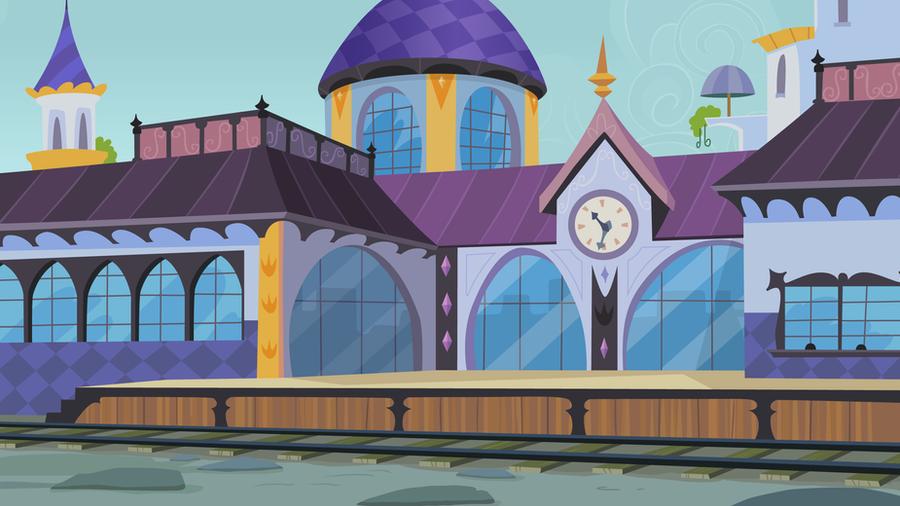 Canterlot Train Station by CloudshadeZer0