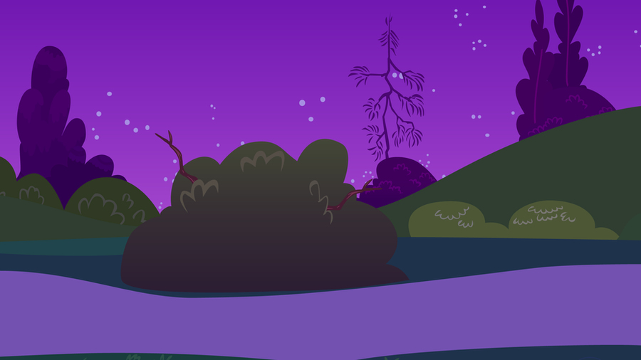 Canterlot Castle Night Garden by CloudshadeZer0
