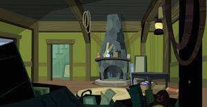 Inside Cranky's House (Customizable Vector) by CloudshadeZer0